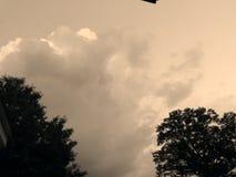 Nubes de noche Fotos de archivo libres de regalías