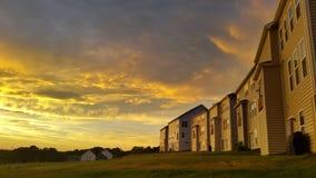 Nubes de oro Imagen de archivo