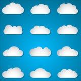 Nubes de papel stock de ilustración