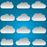 Nubes de papel Fotos de archivo libres de regalías
