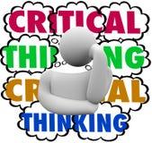 Nubes de proceso de pensamiento críticas del pensamiento del pensador del sistema Imagenes de archivo