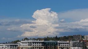 Nubes de Seattle foto de archivo