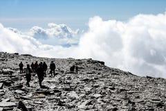 Nubes de Sierra Nevada imágenes de archivo libres de regalías