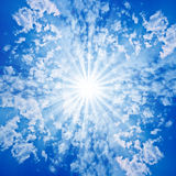 Nubes de Sun del cielo Imagen de archivo libre de regalías