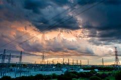 Nubes de tormenta coloridas Imagen de archivo libre de regalías