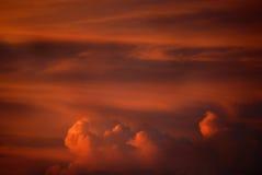 Nubes de tormenta de la puesta del sol Foto de archivo libre de regalías