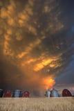 Nubes de tormenta de la puesta del sol Canadá Imágenes de archivo libres de regalías