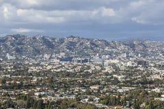 Nubes de tormenta de Los Ángeles Imagen de archivo