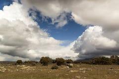 Nubes de tormenta en el parque nacional de Guadarrama Fotografía de archivo