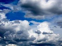 Nubes de tormenta en Francia Foto de archivo libre de regalías