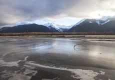 Nubes de tormenta en invierno Fotos de archivo