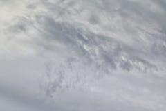 Nubes de tormenta grises Foto de archivo libre de regalías
