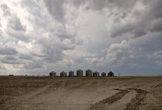Nubes de tormenta de la pradera Canadá Fotografía de archivo