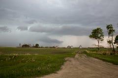 Nubes de tormenta de la pradera Canadá Fotos de archivo libres de regalías