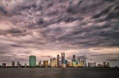 Nubes de tormenta de Miami Imágenes de archivo libres de regalías
