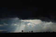 Nubes de tormenta negras Imagen de archivo libre de regalías