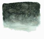 Nubes de tormenta oscuras con lluvia Fotografía de archivo libre de regalías