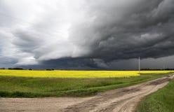 Nubes de tormenta Saskatchewan Imagen de archivo