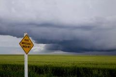 Nubes de tormenta Saskatchewan Imágenes de archivo libres de regalías