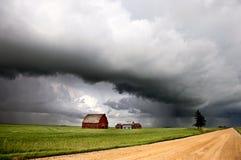 Nubes de tormenta Saskatchewan Foto de archivo