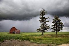 Nubes de tormenta Saskatchewan Foto de archivo libre de regalías