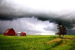 Nubes de tormenta Saskatchewan Fotografía de archivo