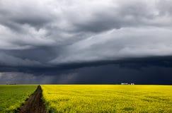 Nubes de tormenta Saskatchewan Fotos de archivo