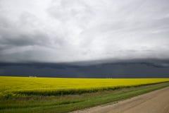 Nubes de tormenta Saskatchewan Imagen de archivo libre de regalías