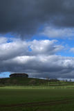 Nubes de tormenta sobre tierras de labrantío Imágenes de archivo libres de regalías