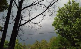Nubes de tormenta una elaboración de la cerveza Fotografía de archivo