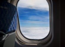 Nubes de un avión Foto de archivo libre de regalías