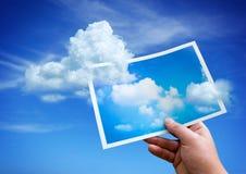 Nubes de un cuadro Foto de archivo