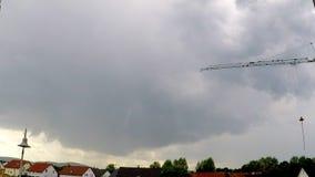 Nubes de una tempestad de truenos próxima almacen de metraje de vídeo