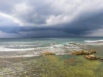 Nubes debajo de la playa en Galle Imagen de archivo libre de regalías