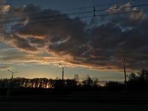 Nubes del aceite Foto de archivo libre de regalías