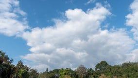 Nubes del blanco del movimiento del lapso de tiempo almacen de video
