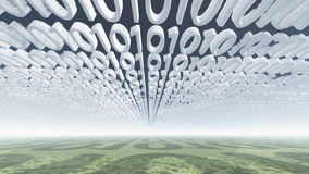 Nubes del código binario Imagen de archivo