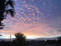 Nubes del caramelo de algod?n fotografía de archivo libre de regalías