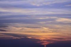 Nubes del cielo de la puesta del sol Imágenes de archivo libres de regalías