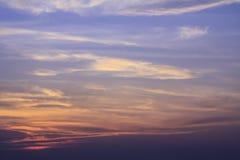 Nubes del cielo de la puesta del sol Fotografía de archivo