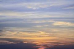 Nubes del cielo de la puesta del sol Fotografía de archivo libre de regalías