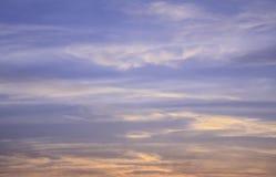 Nubes del cielo de la puesta del sol Imagen de archivo libre de regalías