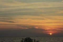 Nubes del cielo de la puesta del sol Imagen de archivo