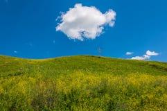 Nubes del cielo de las colinas de las montañas Fotografía de archivo