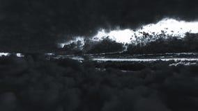 Nubes del contraste Fotografía de archivo
