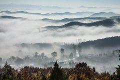 Nubes del depósito de Miyun Imagen de archivo libre de regalías