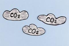 Nubes del dióxido de carbono Fotos de archivo