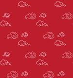 Nubes del estilo chino Fotos de archivo libres de regalías