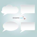 Nubes del extracto de Infographic Ilustración del vector Fotos de archivo libres de regalías