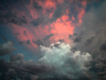 Nubes del fuego Imagenes de archivo